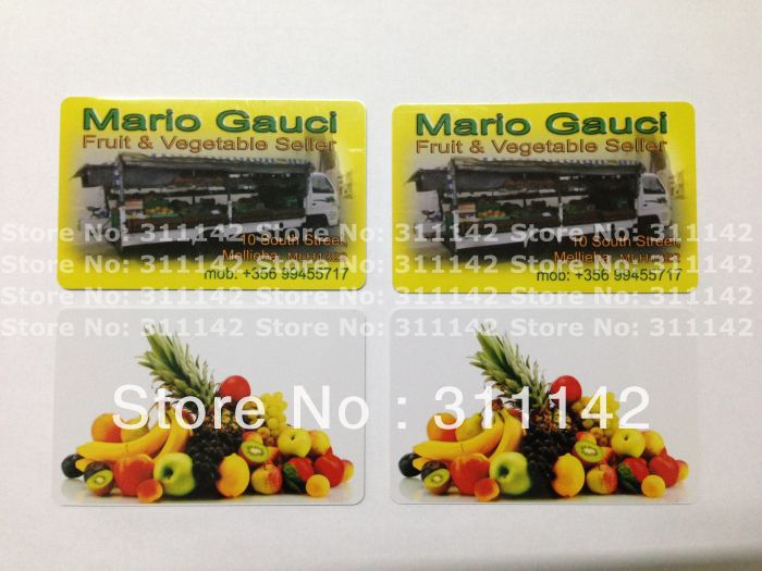Custom pvc member card /gift card/ super market cards /business cards 1000pcs/lot free shipping by Fedex(China (Mainland))