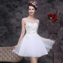 vestido de noiva short white ivory pink red champagne sleeveless wedding dress appliques crystal Bridal Gowns In Stock Dress(China (Mainland))