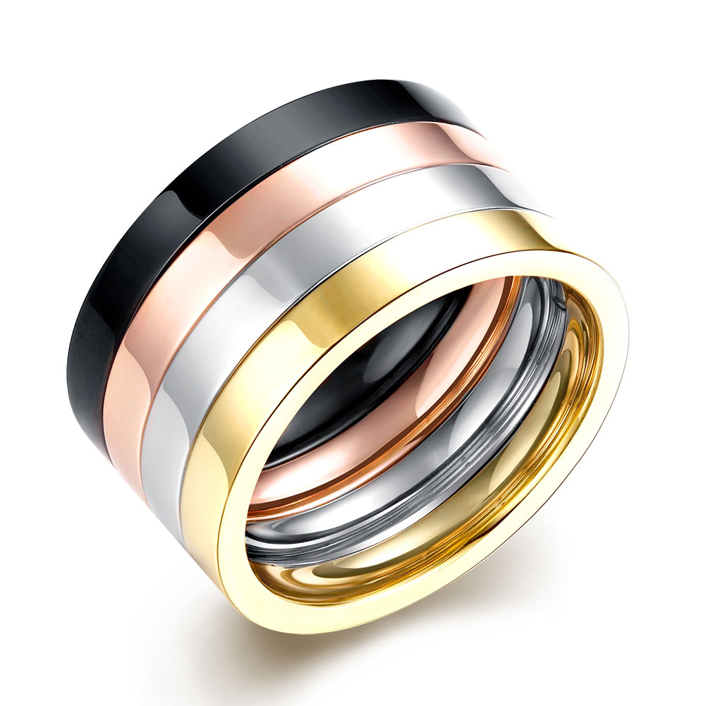 lureme selling simple stainless steel finger rings for