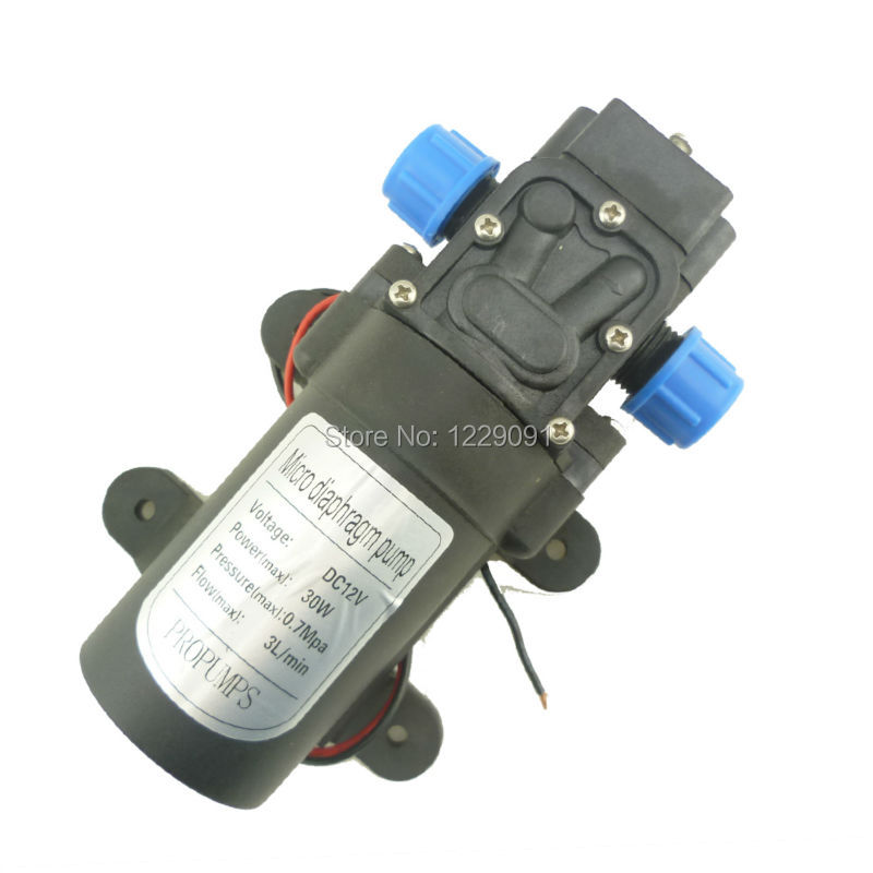 Return valve type 30W 3L/min Mini DC Diaphragm battery powered High pressure electric sprayer Pump for clean, spray(China (Mainland))