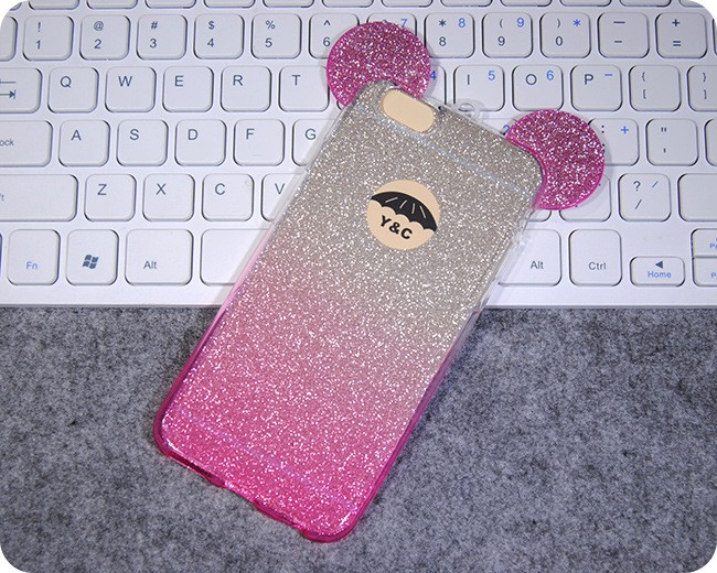 HOT SALE twinkling Colorful Micky Phone Case Cover For IPHNOE 5/5S 6/6s 6Plus/6SPlus Phone Case Bag