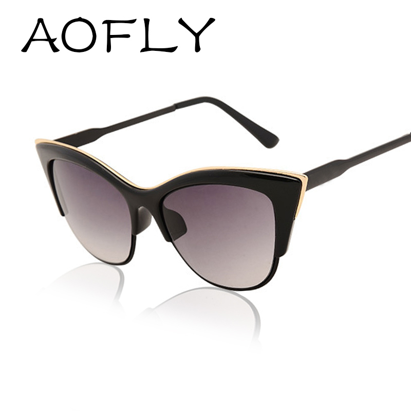 AOFLY Fashion sexy cat eye sunglasses women brand designer vintage sun glasses for women Retro shades gafas Oculos feminino(China (Mainland))