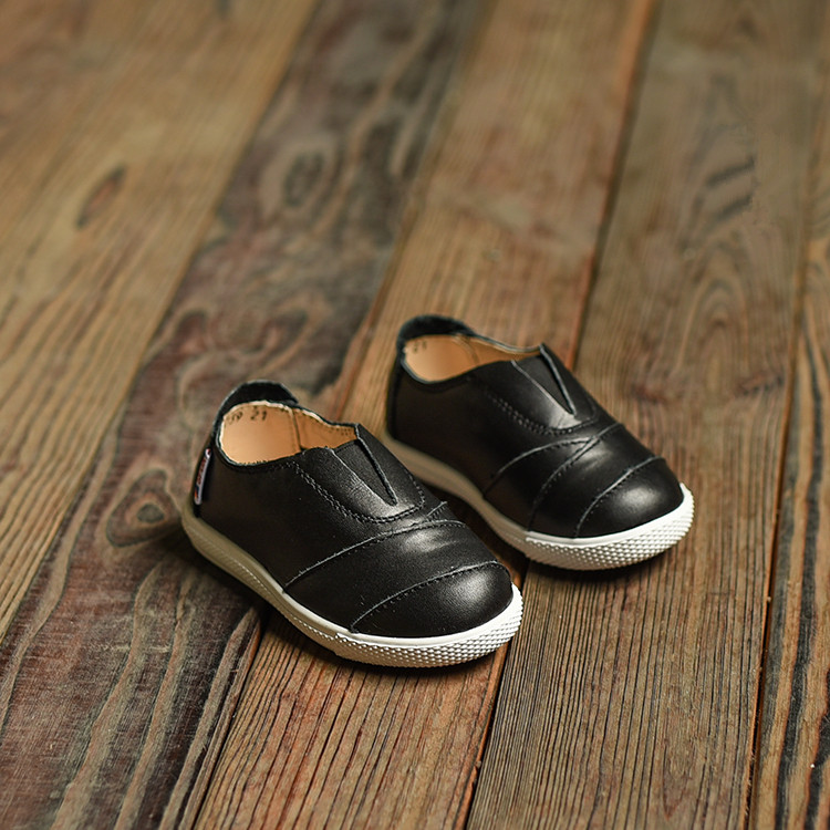 Leather baby shoes Shoes Children's 2016 autumn fashion wild leather boys girls casual student shoes leather shoes(China (Mainland))