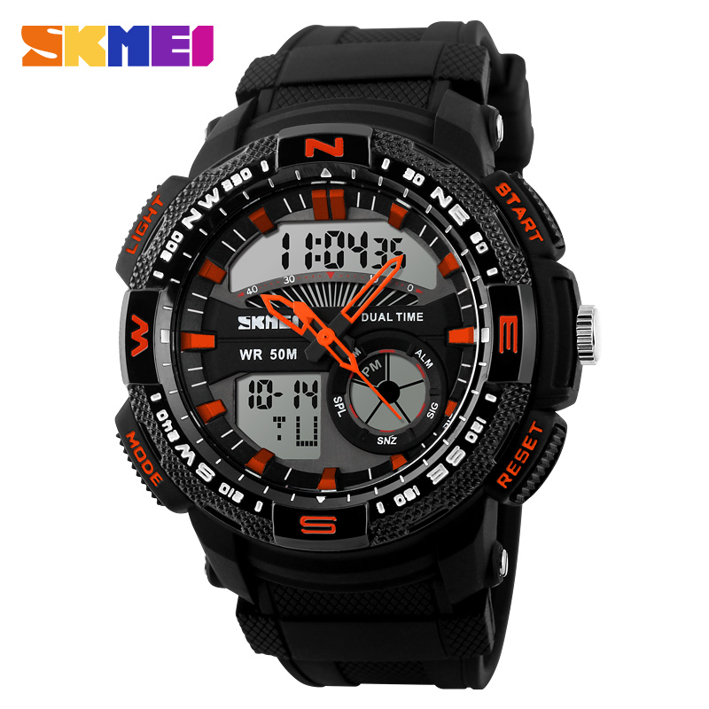2015 Mens Quartz Watch Relogio Masculino SKMEI LED Digital Men Sports Watches Fashion Relojes Military Waterproof Wristwatches<br><br>Aliexpress
