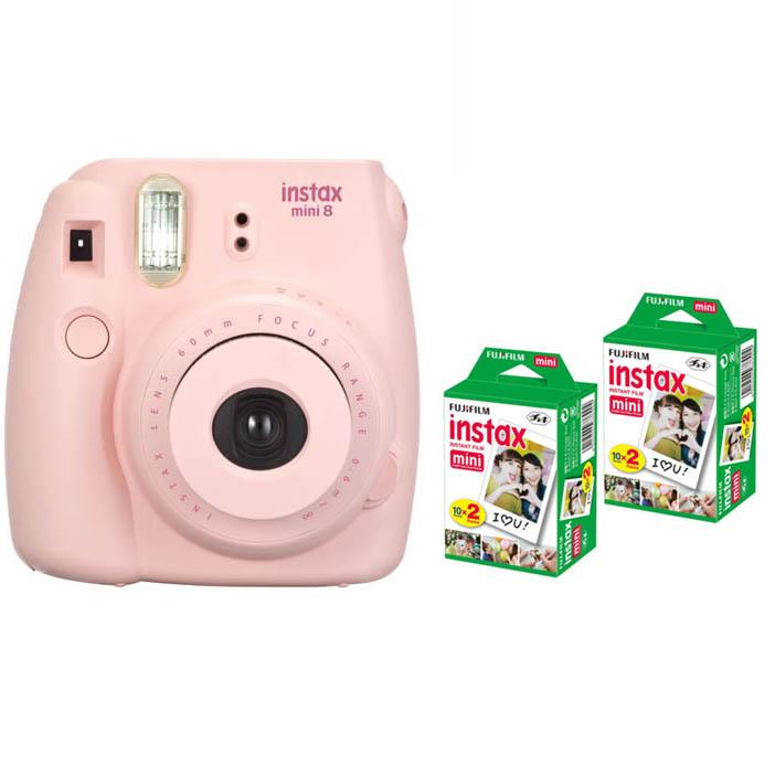 Fujifilm Instax Mini 8 Instant Printing Digital Camera With 40 Sheets Twin Pack Fuji Film Photo Paper for Mini 7s 25 50s 90(China (Mainland))