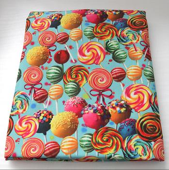 42188 Fabric 50*147cm DIY handmade materials, flowers series high quality printed polyester ribbon, wedding gift wrap