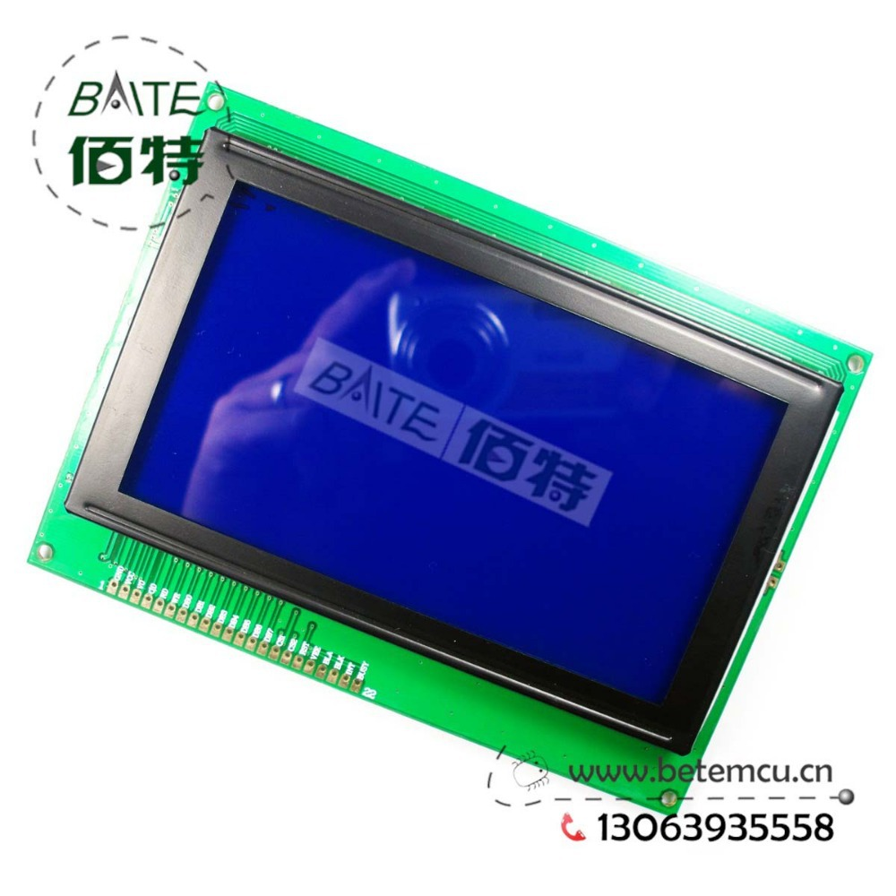 Free Shipping 1PCS 240128Z 240x128 Dots Graphic Blue Color Backlight LCD Display module RA8822 Controller New(China (Mainland))