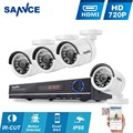 SANNCE CCTV Security System HD 1080N 8CH AHD DVR 4PCS 720P IR outdoor CCTV Camera System
