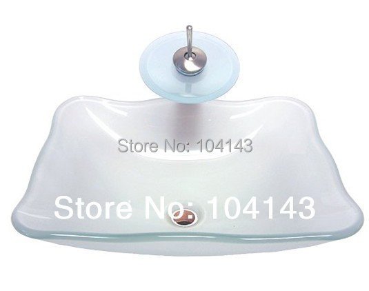 Popular MIlk White Basin Construction Real Estate Kitchen Bath Fixtures Bathroom Sinks Mounting Ring Glass Basin