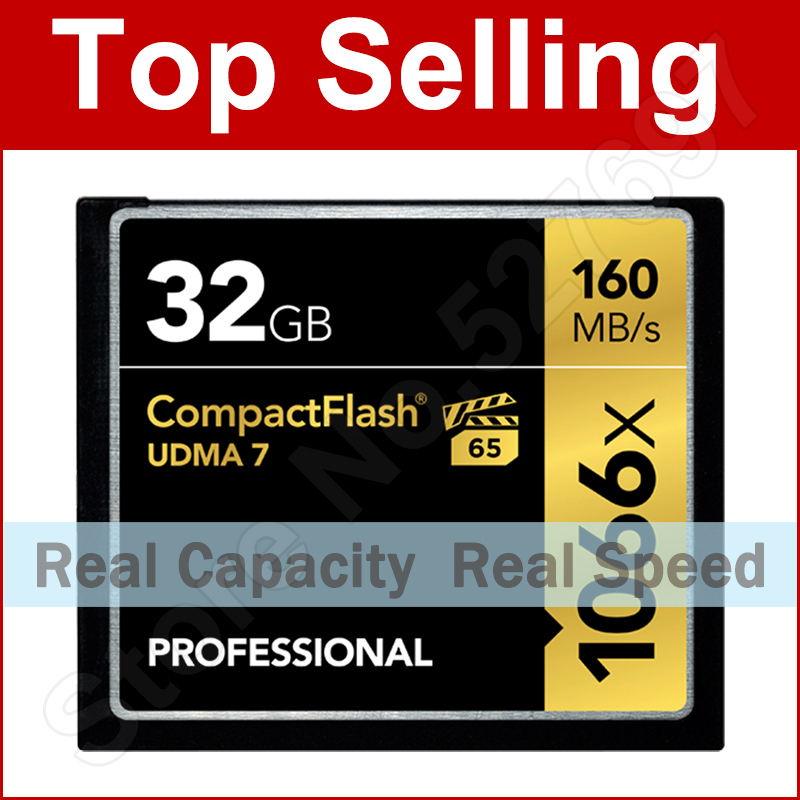Brand 160MB/s 1066x 64GB CompactFlash CF Memory Card For Canon Nikon Digital DSLR Camera 1080 HD Camcorder 3D Video DV Device(China (Mainland))