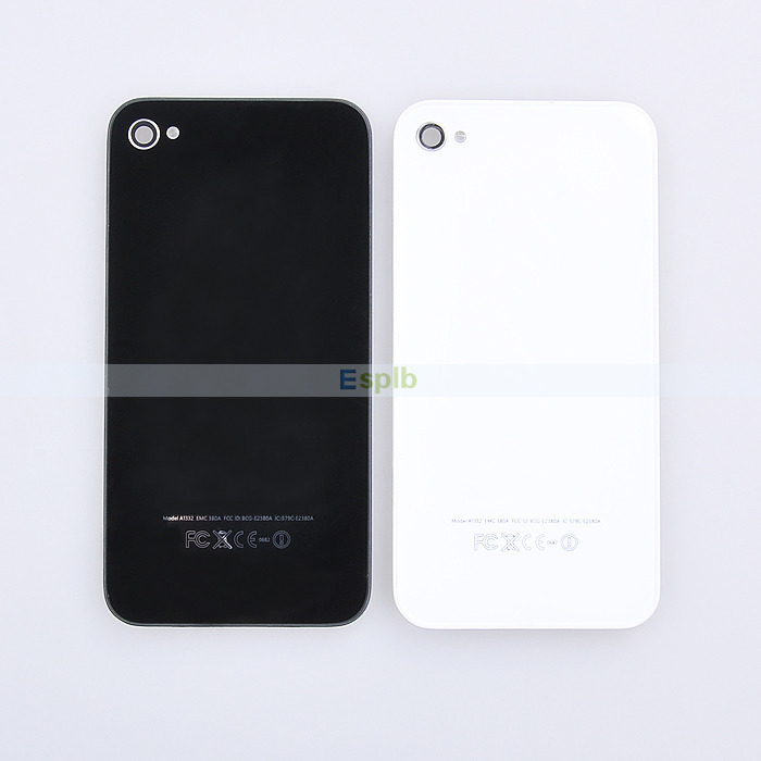 Rear Back Housing Glass Battery Door Cover Case Replacement For iPhone 4 4G/4S(China (Mainland))