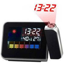 Luminova Projection Digital LED Alarm Clock Despertador Weather Temperature Display Desktop LCD Snooze Alarm Clock Backlight(China (Mainland))
