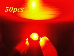Free shipping 50pcs 3w 3watt Red High Power 3W red LED Lamp Light ultra Bright 3w red led beads