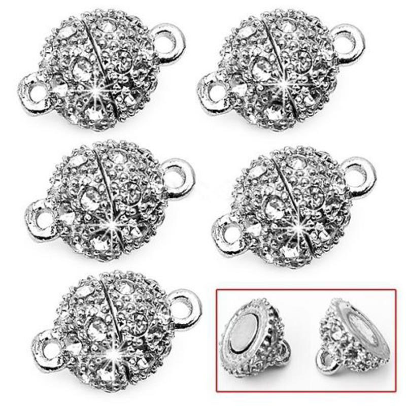 Wholesale 5pcs Silver Strong Magnetic Clasps Connector 15x9mm for Jewelry Making<br><br>Aliexpress