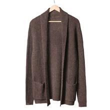 Мужской свитер, кардиган с длинными рукавами, мужской Стильный кардиган, одежда, модный толстый теплый свитер из мохера, мужской английский ...(China)