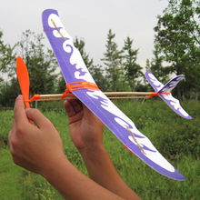 10PCS DIY Assembly Updated Rubber Power Glider Airplane Model Toys For Kids Gifts(China (Mainland))