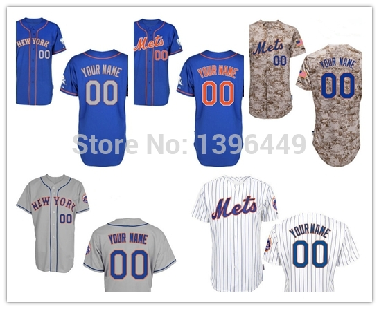 Cheap Custom New York Mets Baseball Jerseys Customized Personalized Stitched Name Number Size M-XXXL