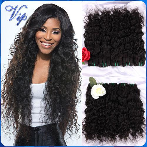 6a Wet And Wavy Peruvian Virgin Hair 3 Pcs Virgin Unprocessed Peruvian Water Wave Human Hair Weave Bundles Peruvian Natural Wave(China (Mainland))