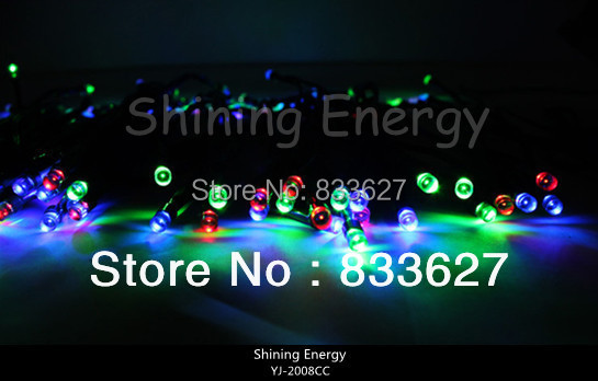 Free Shipping!! 5PCS 12 Meter Christmas OUTDOOR SOLAR STRING LIGHTS 100 LED Three Primary Colors(China (Mainland))