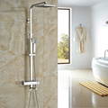 New Arrival Bathroom Chrome Thermostatic Shower Faucet with 8 ABS Shower Head and Handshower