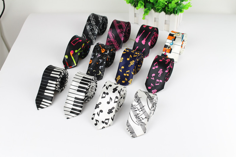New Style Men's Fashion Neckties Helloween Festival Christmas Tie Soft Designer Character Necktie Music score piano Guitar(China (Mainland))