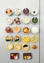 Estilo chino de tres dimensional características chinas de imitación creativa porcelana bocado de especialidades de comida del refrigerador(China (Mainland))