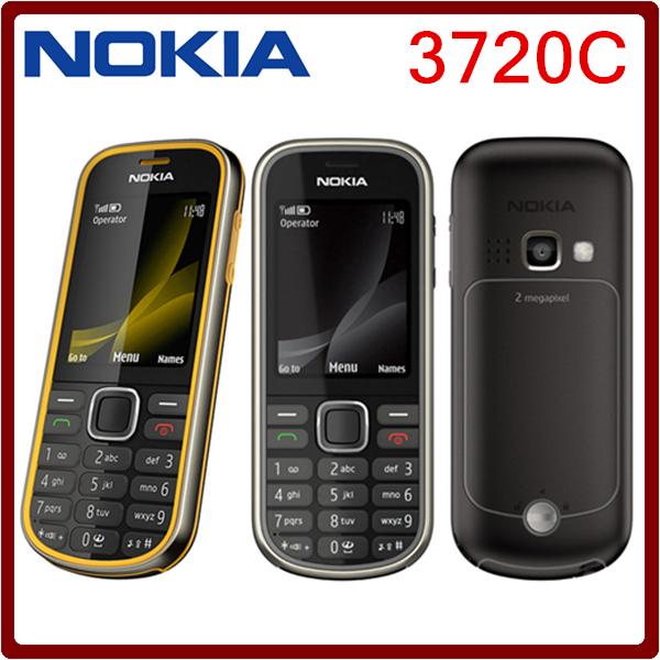 Original Nokia 3720 Classic 2MP Camrea Unlocked Mobile Phone Support Russian keyboard and Polish 10 Pcs DHL Free shipping(China (Mainland))