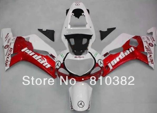 ABS Plastic Fairing kit for SUZUKI GSXR600 750 01 02 03 GSXR 600 GSX-R750 K1 2003 2001 2002 jordan red whtie Fairings kit SM29(China (Mainland))