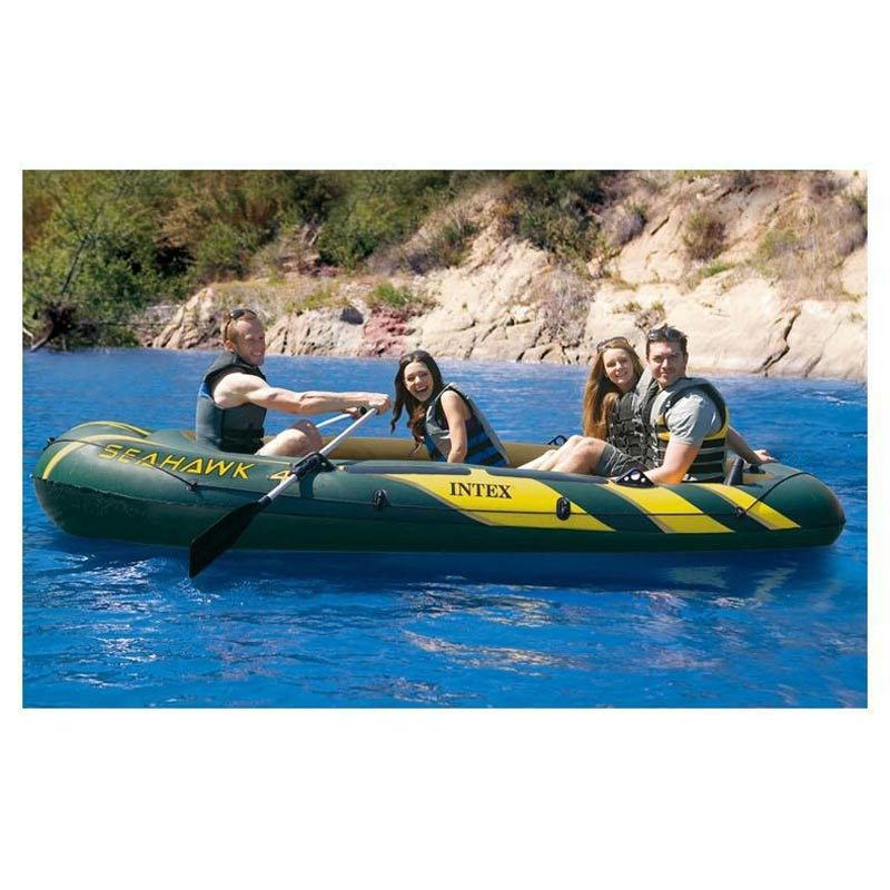 INTEX Seahawk 4 person inflatable boat fishing boat kayak 351x145x48cm 68349(China (Mainland))