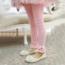 In Stock Girls lace bow Leggings princess Girls panty hose Kid pants child Leggings 2 6