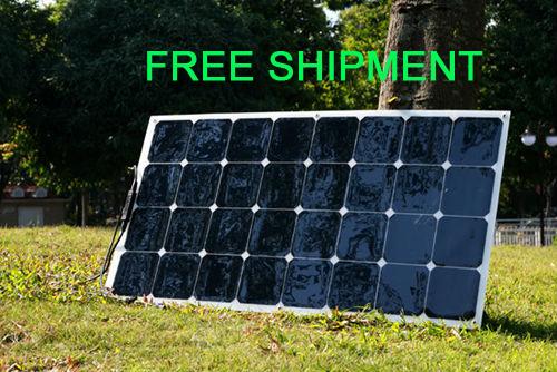 Solarparts 1PCS 100W flexible solar panel 12V solar cell/module/system RV/car/marine/boat battery charger LED Sunpower light kit(China (Mainland))