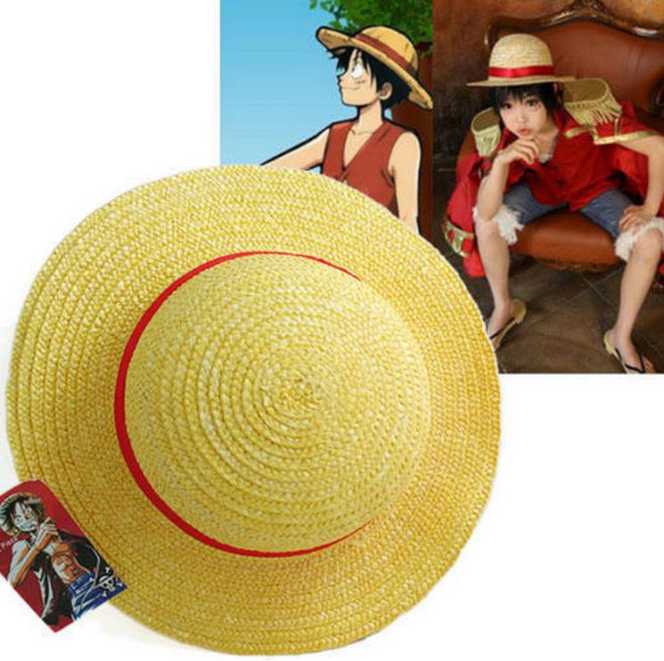 One-Piece-Luffy-Anime-Cosplay-Straw-Boater-Beach-Hat-Cap-Halloween