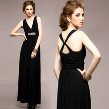2016 new Fashion summer style women dress racerback female long black dresses ladies party sexy maxi dresses vestidos WDS002(China (Mainland))