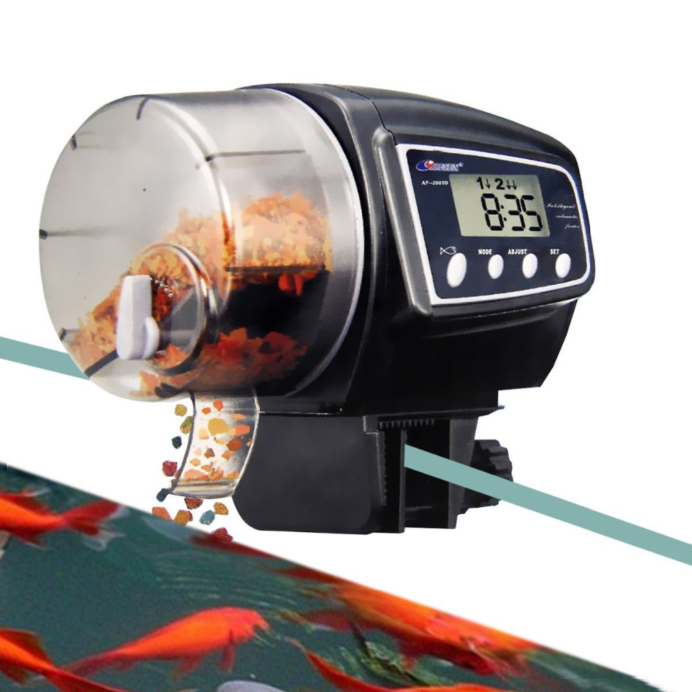Best gift automatic fish feeder with lcd display af 2005d for Best automatic fish feeder