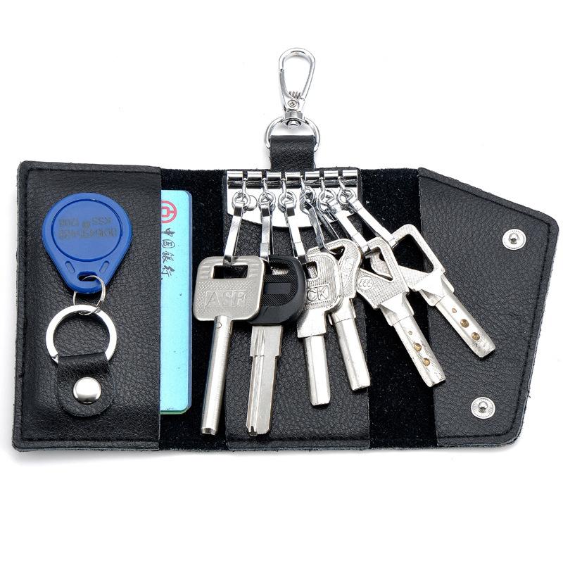 Leather Car Keys Bag Card Men Multi-function Key Wallets Purse Holder card holder - Beijing MUTU Commercial Ltd. store