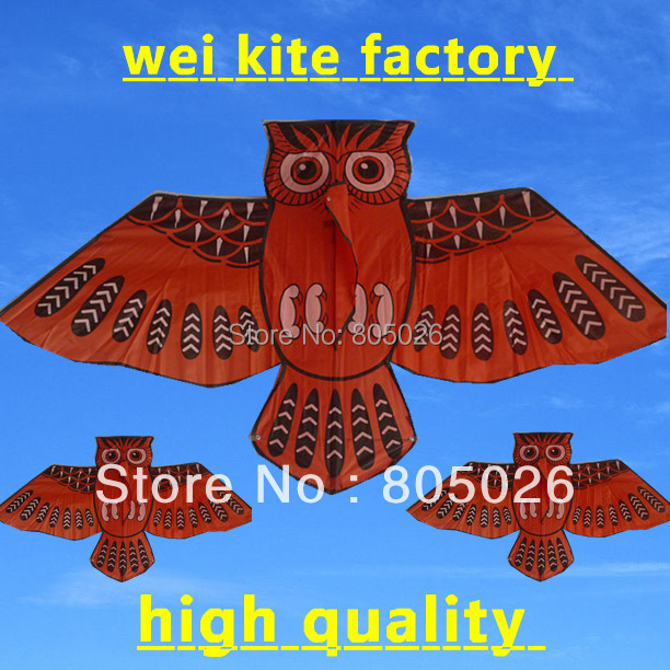only 9.9 free shipping high quality owl kite 2pcs/lot flying higher flying toys nylon ripstop kite with china reel surfing(China (Mainland))