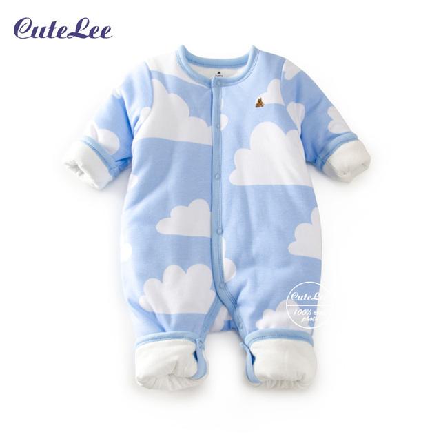Детские зимние младенческая мультфильм хлопок толстый зимний комбинезон согреться девушка новорожденный мальчиков одежда лыжный детский зимний комбинезон для мальчиков зимние пальто