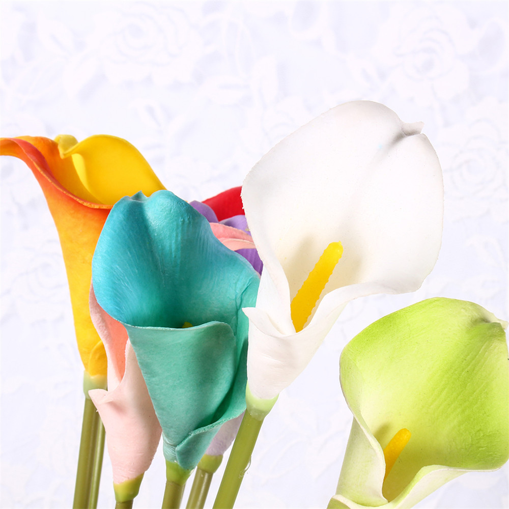 5Pcs/lot Artificial Silk Plastic Flowers Fake Bouquet Lotus Flower Home Party Wedding Party Decoration(China (Mainland))