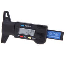 Digital LCD Auto Car Tyre Tire Tread Depth Gauge/Check/Tester Measuring Tool 0-25.4mm Metric / Inch Black(China (Mainland))