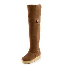 Moda mujeres sobre rodilla patea los zapatos de invierno 2015 recién llegado de nieve para mujer zapatos ventas al por mayor(China (Mainland))