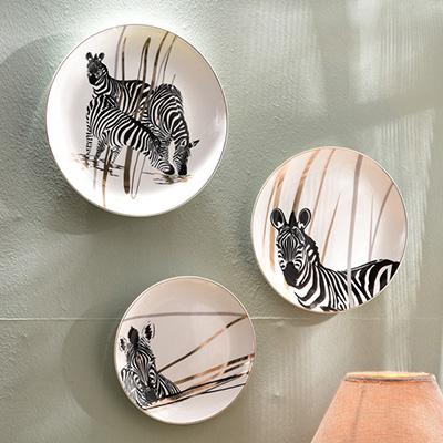 Online kopen wholesale zebra gerechten uit china zebra gerechten groothandel - Decoratieve platen ...