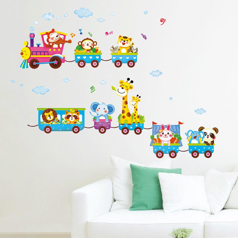 2016 new animal wall sticker kids cartoon mural children's bedroom wall decal decoration stickers X020(China (Mainland))