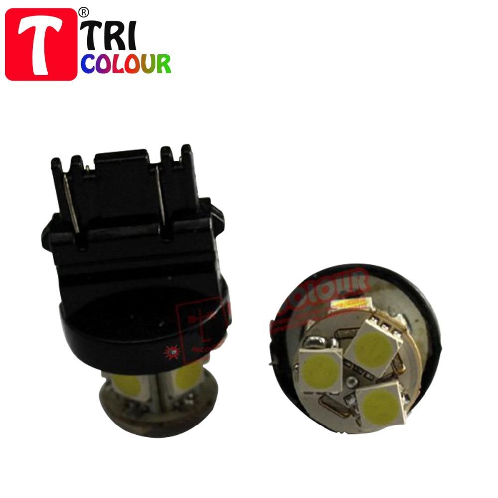 Auto led lamp T25 3157/3156 8 SMD 5050 LED 3-CHIPS Tail Brake Stop Light Bulb Super whiteHigh Quality Wholesale #G02028