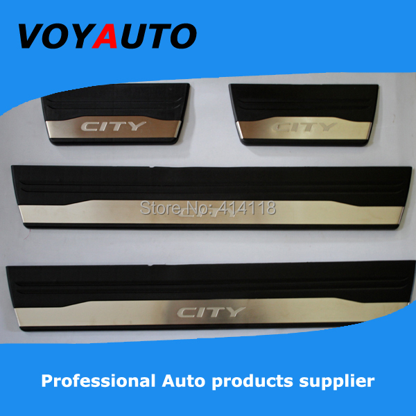 2014 NEW ! stainless steel CITY LED Door Sill Plate, led door sill, scuff plate - VOYAUTO CO.,LTD store