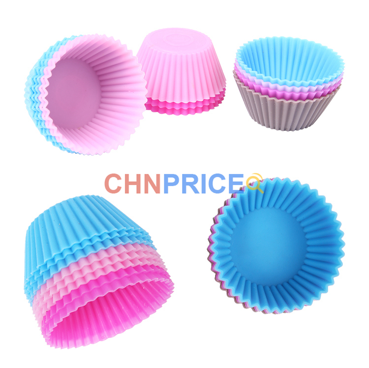 12pcs Mini Silicone Cup Cake Pan Mold Muffin Cupcake Form to Bake Kitchen Baking Tools for Cakes Free Shipping 3CM(China (Mainland))