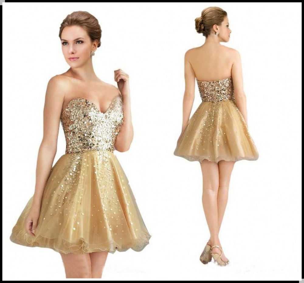 Gold Homecoming Dresses Cheap images