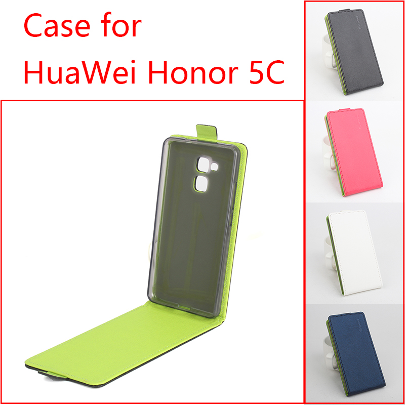 Contrast Color Huawei Honor 5C Flip Case Fashion Green Inside PU Leather Cover 5 C Black Red White Navy  -  SuperGear Store store