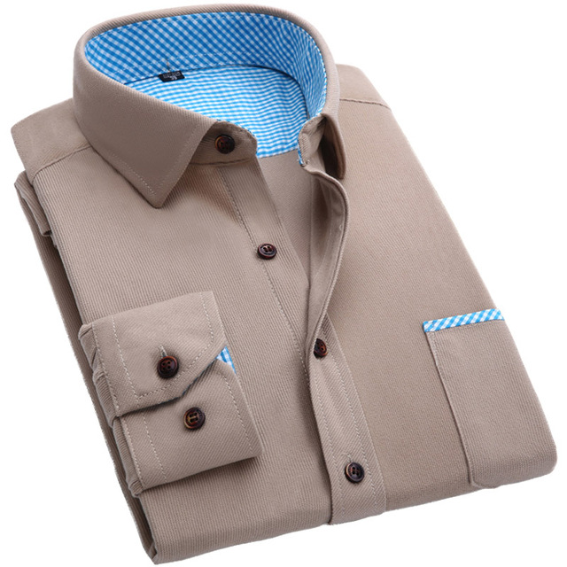 Новое поступление 2016 осень зима фланелевые рубашки марка высокое качество вельвет ...