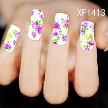 Water Transfer Nail Art Stickers Decal Beauty Pink Rose Peony Flowers Garden Design DIY French Manicure Foils Stamping Tools
