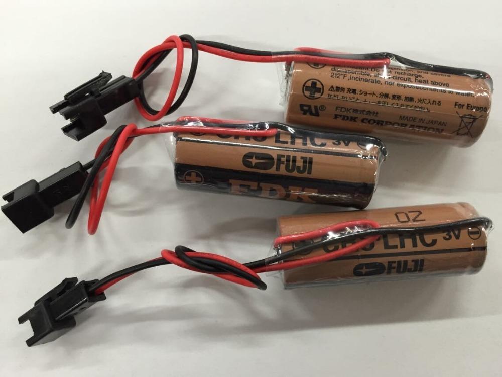 10pcs/lot New Version Original FUJI FDK CR8.L 2600mAh 3V Lithium Battery PLC Batteries W/2P-Plug<br><br>Aliexpress